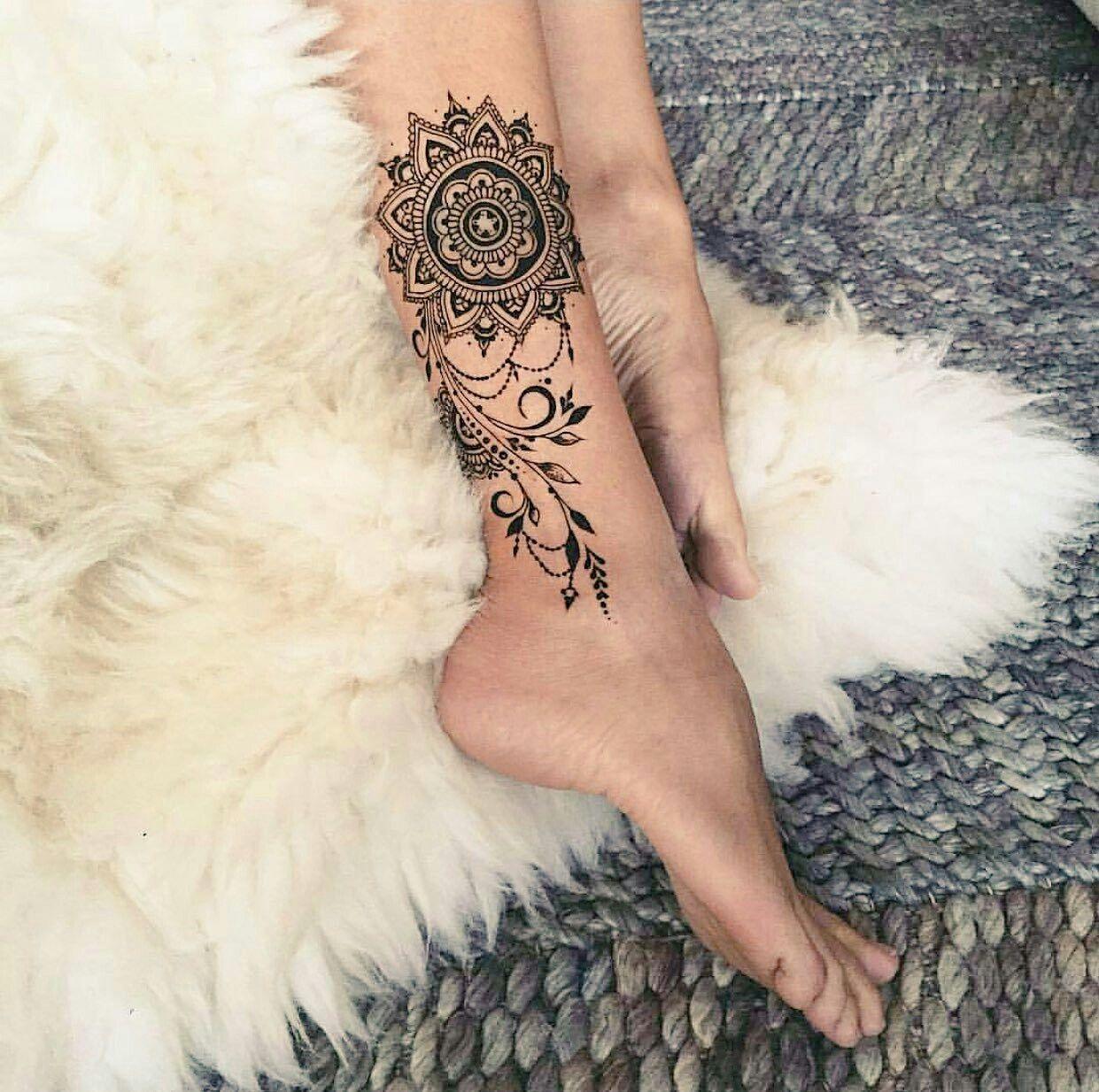 Pin Oleh Auxi Rojas Di Beauty Tato Mandala Tato Henna Desain Henna