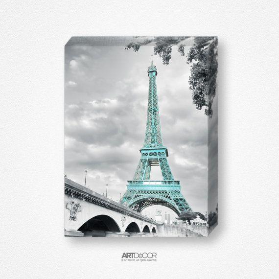 Eiffel Tower Paris Wall Art Decor Canvas Matte Photo