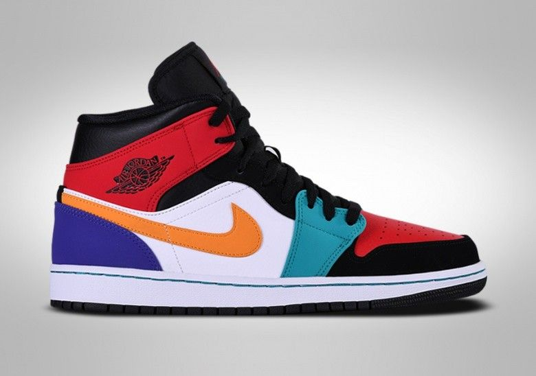 Nike air jordan 1 retro mid multicolor in 2020 | Nike casual ...