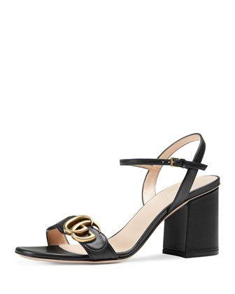 18073f04ca6e Gucci Marmont GG Block-Heel Sandal