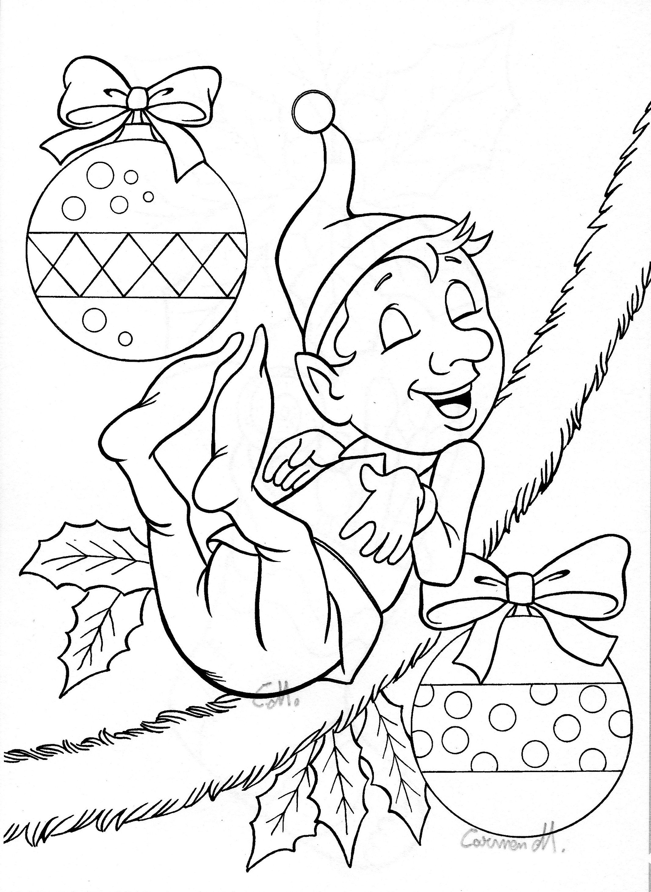 Pin by doni nix on coloring pages pinterest elves xmas and stamps