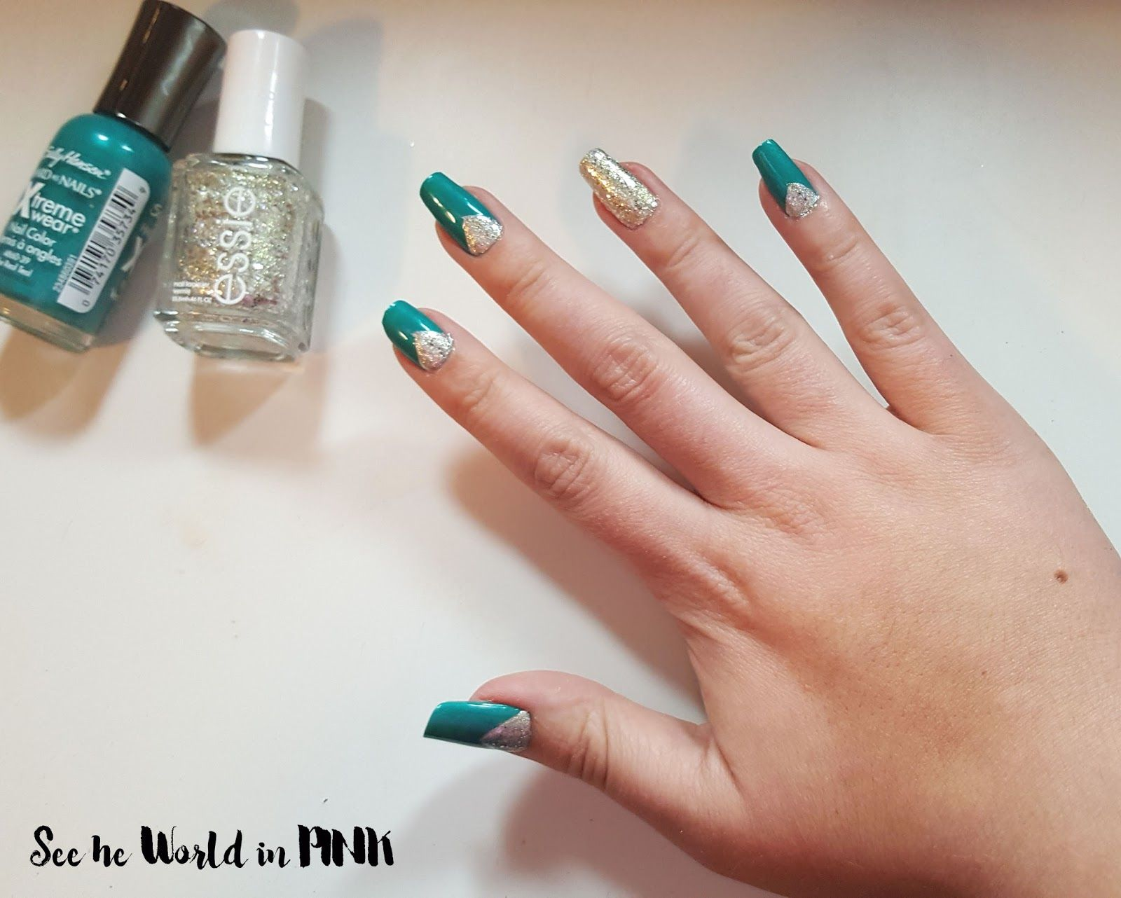 Manicure Monday - Jewel Toned Glitter Mani | See the World in PINK ...