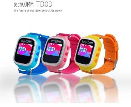 TechComm TD-03 Kids Smart Watch with GPS and Sleep Monitor