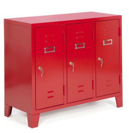 caisson de bureau 3 portes en acier larsen caisson alinea. Black Bedroom Furniture Sets. Home Design Ideas