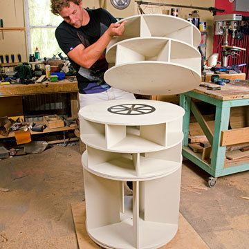 Elegant How To Make A Lazy Susan Shoe Storage