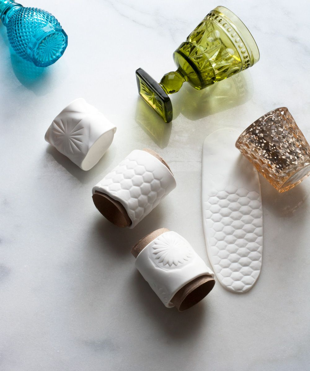 DIY Faux Porcelain Fimo Clay Napkin Rings