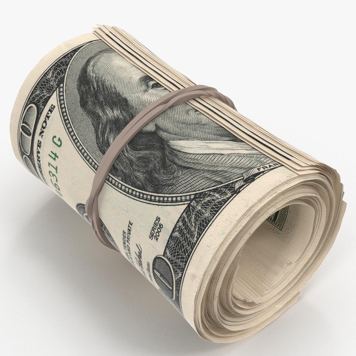 Cash Roll Of One Hundred Dollar Bills 3d Model Ad Roll Cash Dollar Model Money Tattoo Dollar Tattoo 100 Dollar Bill Tattoo