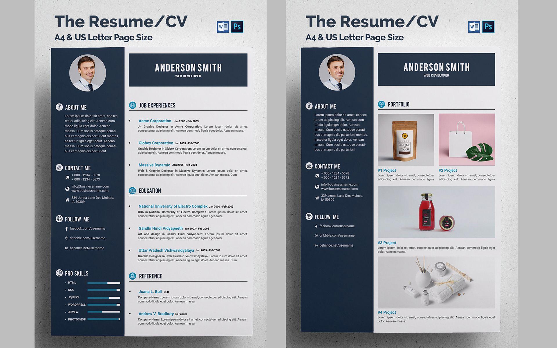 Web Developer Cv Resume Template 68317 Cv Resume Template Web