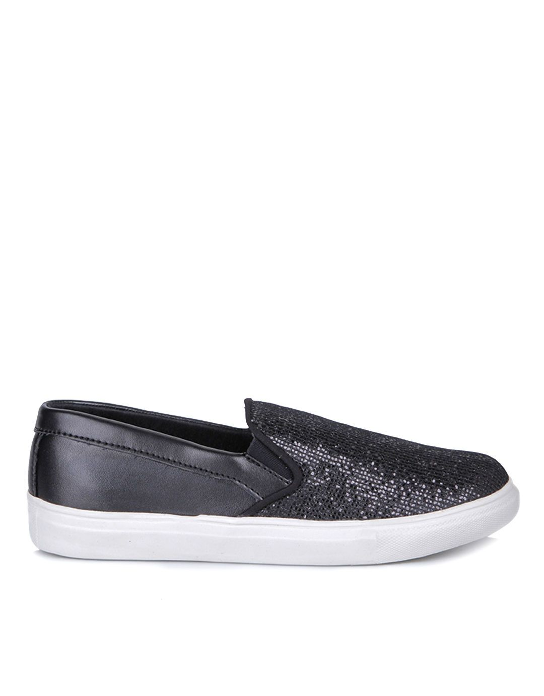 Connexion Casual Slip On Shoes Hitam Sepatu Sepatu Adidas Hitam