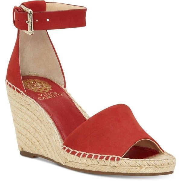 9fca2e65a68 Vince Camuto Leera Espadrille Wedge Sandals (145 CAD) ❤ liked on Polyvore  featuring shoes