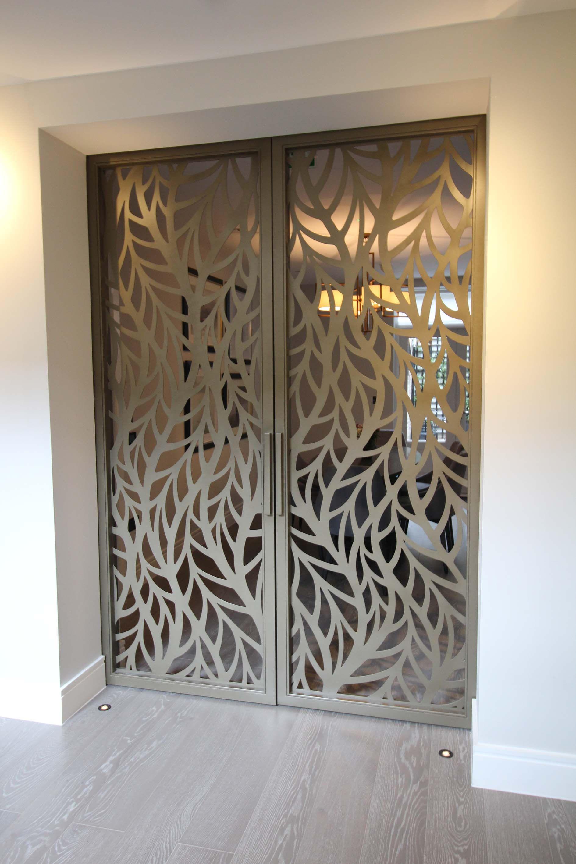 Cutting Wood Door : Silian art gallery london laser cut sliding doors frond