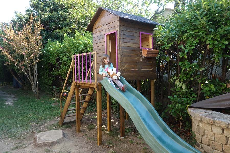 Construire une maisonnette de jardin pour enfant  plan, étapes et - cout d une terrasse en bois