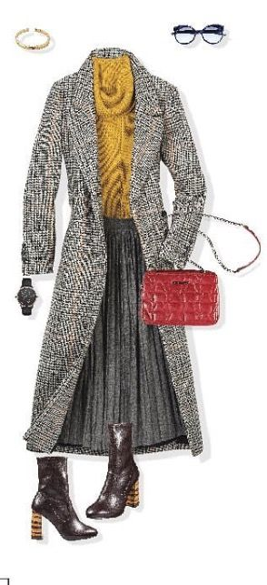 #falda #gris #oxford #PullandBear #clasico #invierno