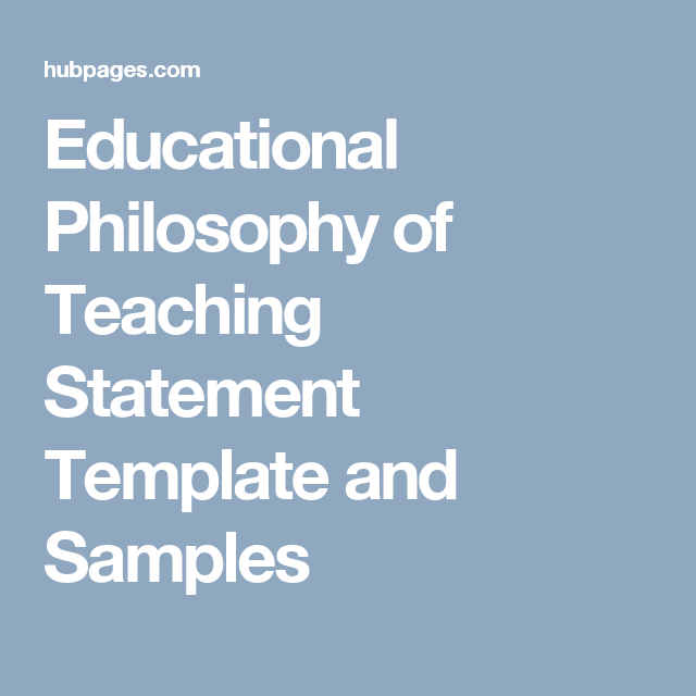 how to write a philosophy of teaching statement tips template and