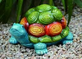Colorful Turtle Statue Turtle Painting Turtle Time Rock Sculpture