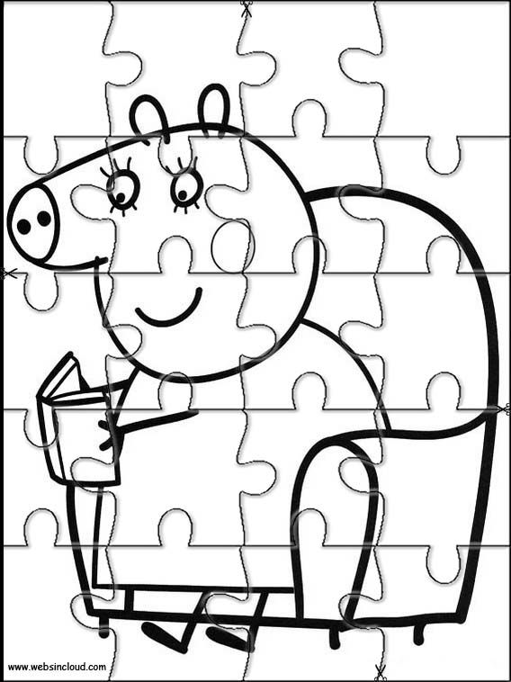 Puzzles rompecabezas recortables para imprimir Peppa Pig 3 | Puzzles ...