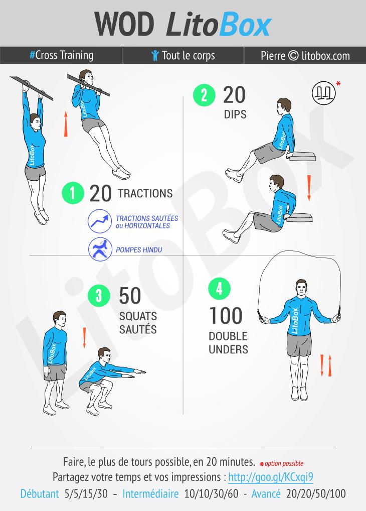 WOD de Cross training #277 | Exercices de fitness, Litobox ...