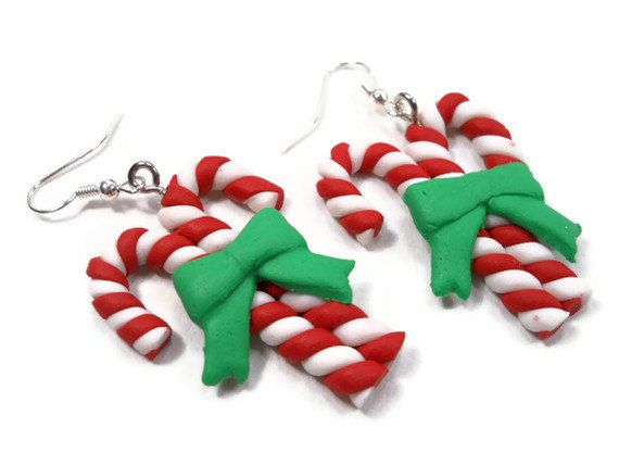 Fun Polymer Clay Christmas Earrings (Set of 4 Pair)