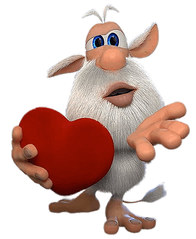 Booba Holding Heart In 2020 Cartoon Cartoon Birthday Cake Png Images