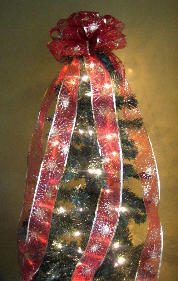 Redgold Christmas Tree Bow Topper Tree By Weddingsandwreaths I