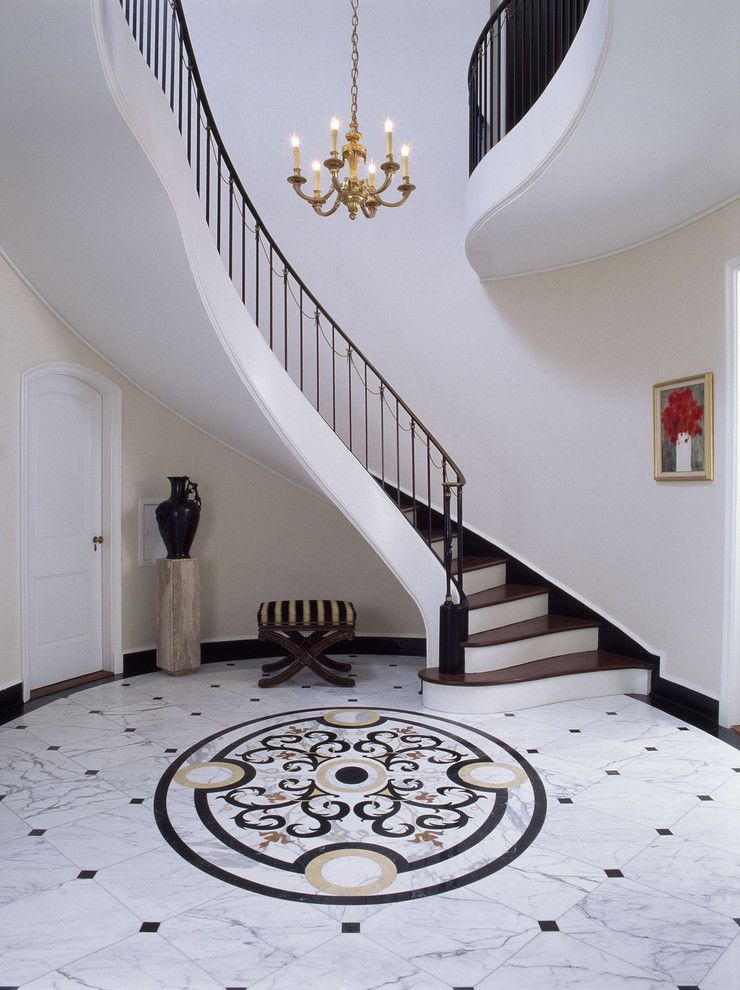 Image Of Sumptuous Marble Flooring trend New York Traditional Entry Decoration ideas