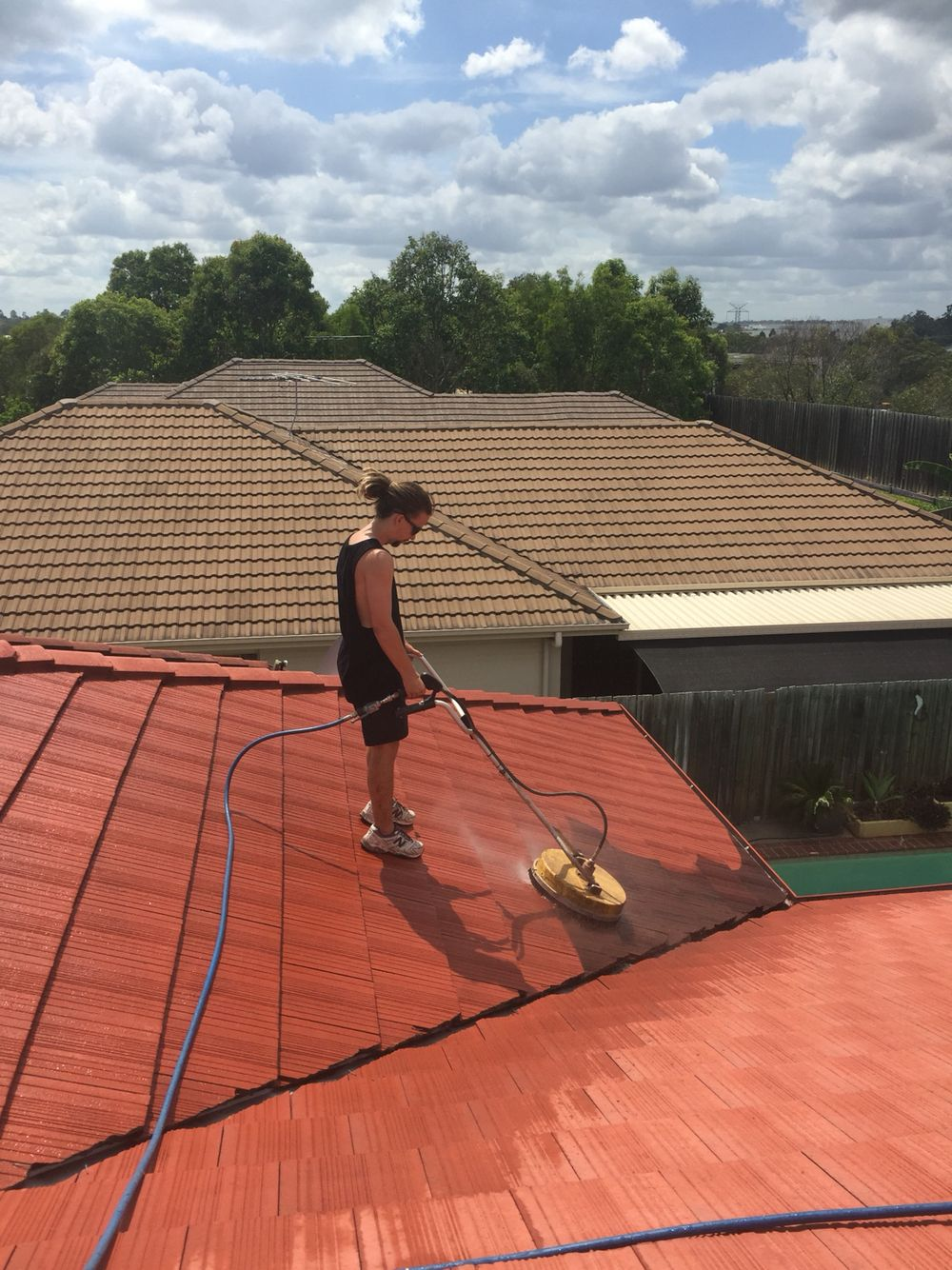 Roof Wash In Brisbane By The Team At Waterworx Pressure Cleaning Brisbane Ipswich Roof Cleaning