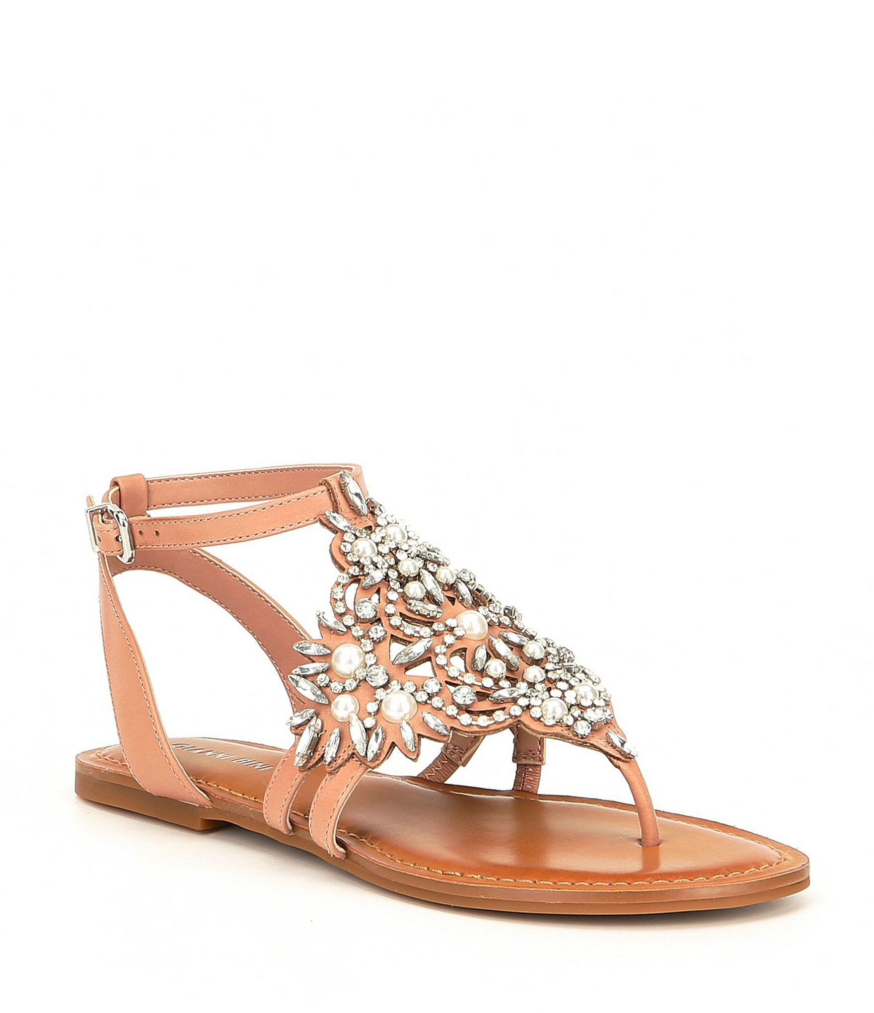 0dfc91a64e9f Shop for Gianni Bini Oliviana Jeweled Pearl Detail Flat Sandals at  Dillards.com. Visit Dillards.com to find clothing