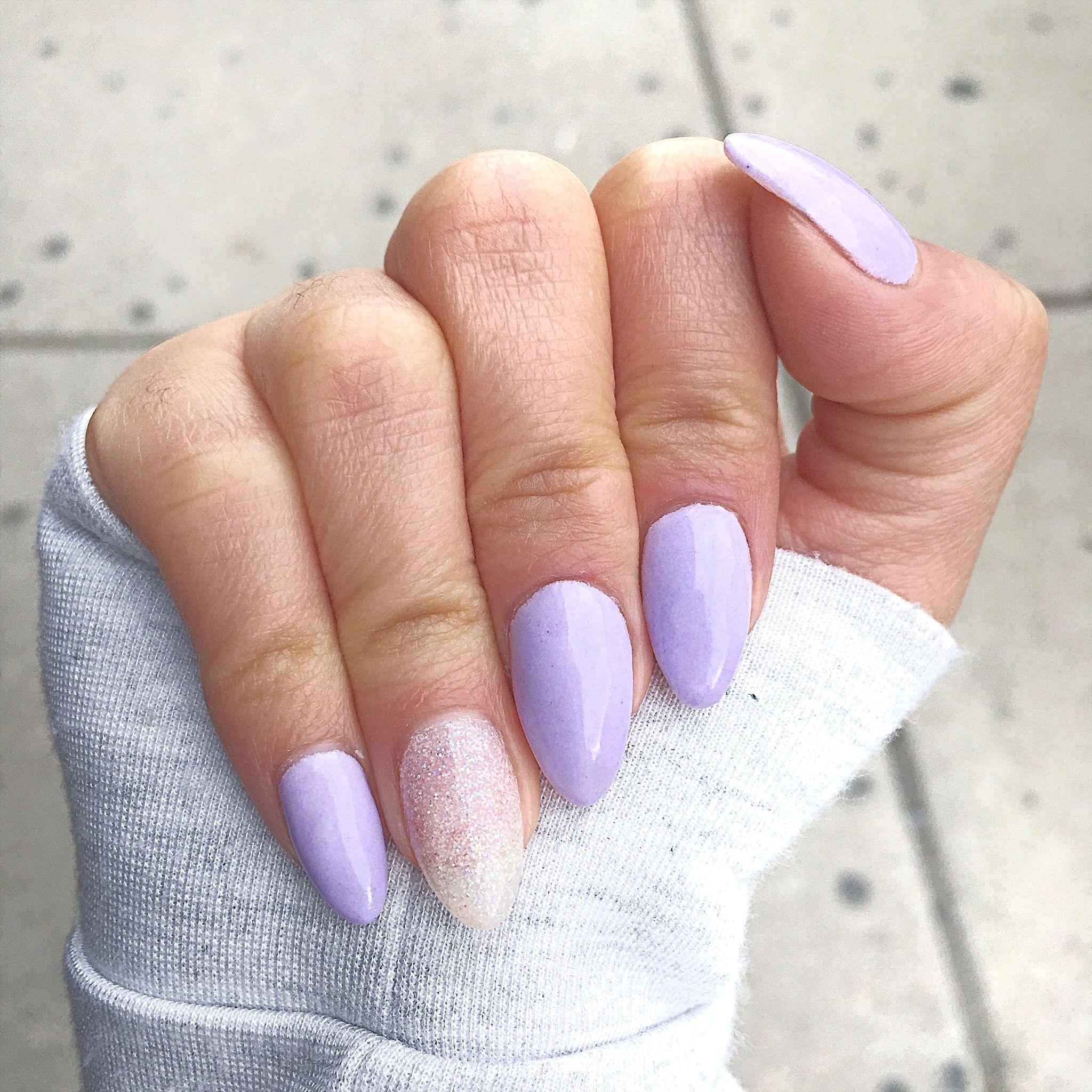 Lilac Almond Shape Nail Purple Nails Lilac Nails Trendy Nails