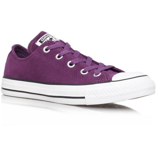 acda2189ba4c5f Ct Suede Low Converse Purple (54 CAD) ❤ liked on Polyvore featuring shoes