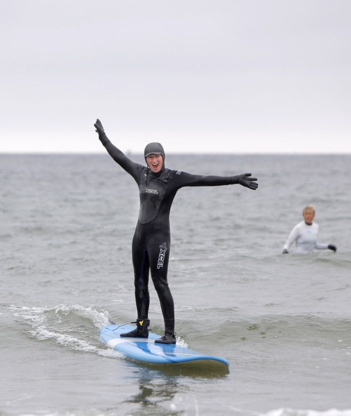 Free women's surfing lessons every Tuesday with Aquaholics in Kennebunk - mainetoday I am so doing this :) need a wet suit though