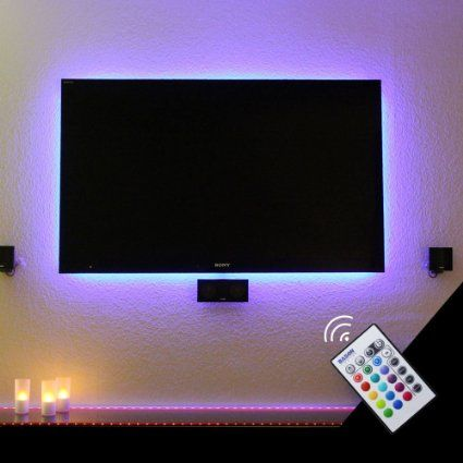 bason usb led tv backlight kit for 32 to 47 inches bias lighting led strip for back of tv lighting home movie theater decor