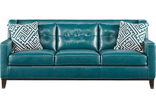 Reina Green Leather Sofa. $888.00. 82W X 38D X 32H. Find Affordable Leather