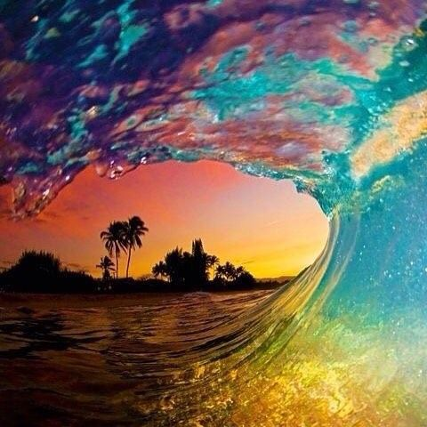 Stunning sunset in Bora Bora