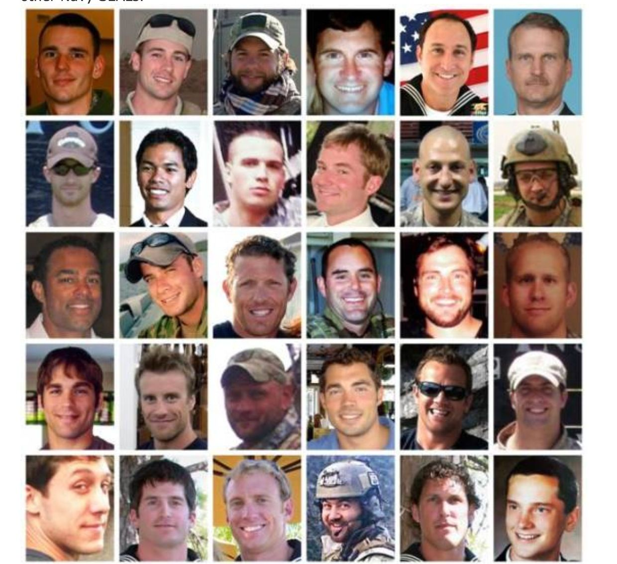 THE FACES OF THE 30 MEN AND 1 SERVICE DOG OF EXTORTION 17