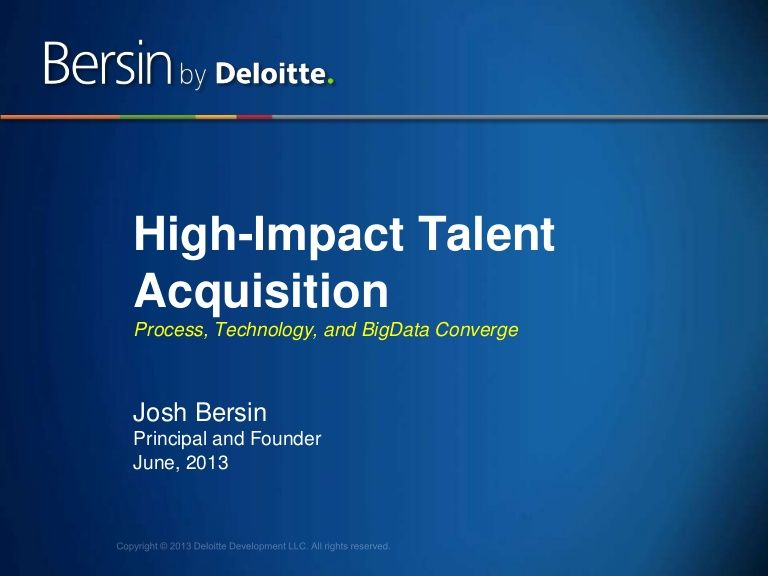 Best practices in recruiting today highimpact talent