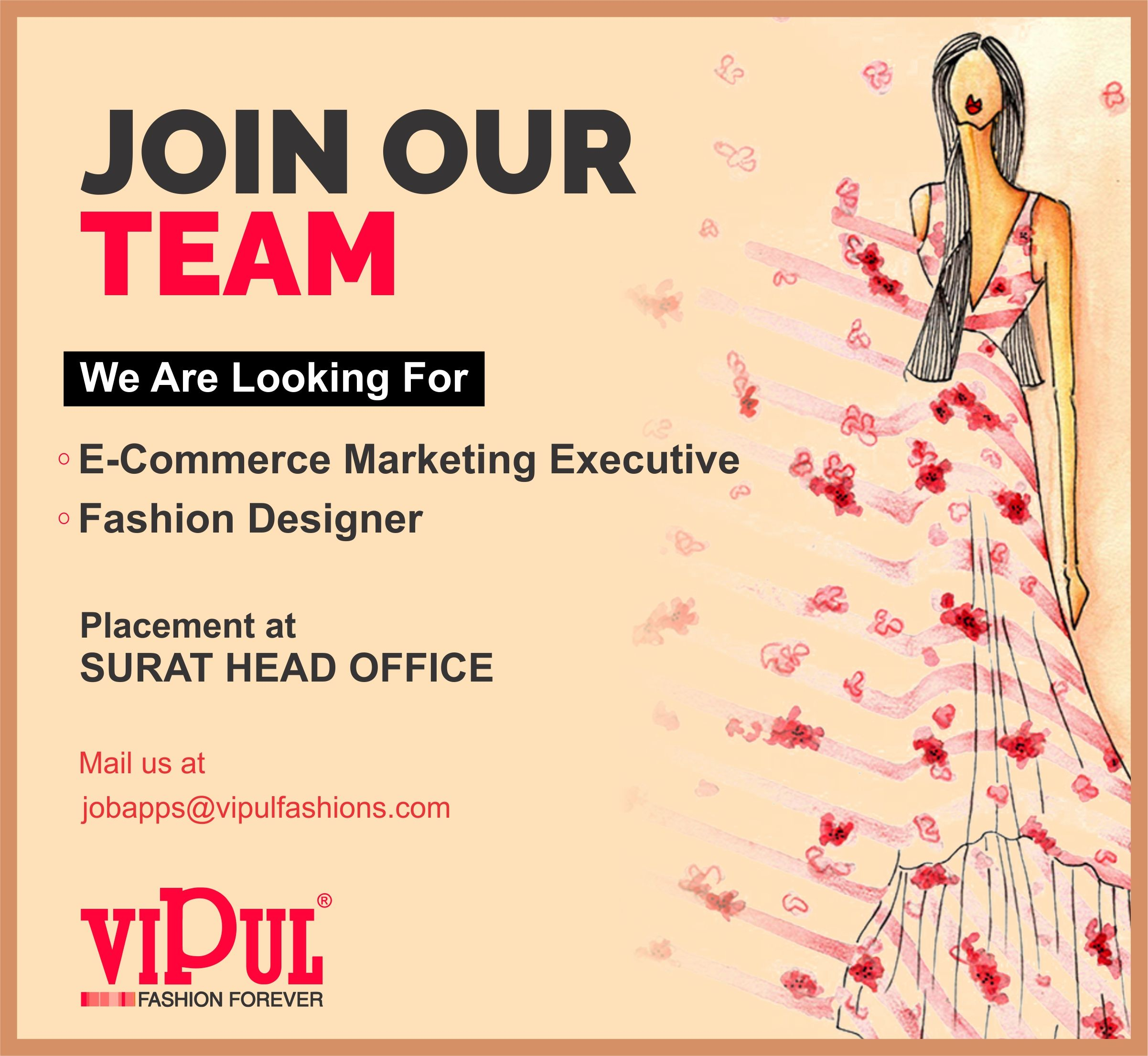 We Are Hiring Make Vipul Fashions Next Step For Your Career We Have Exciting Openings For Those Who Can Make New Id Executive Fashion Fashion Forever Fashion