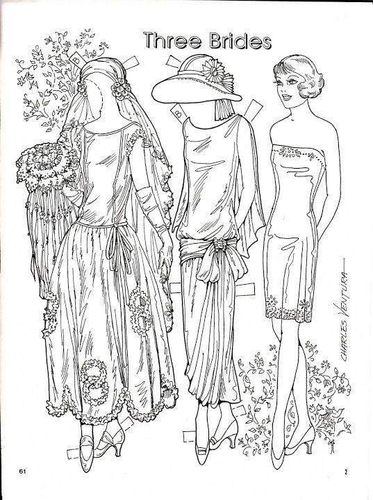 Three Brides 192324 Paper Dolls