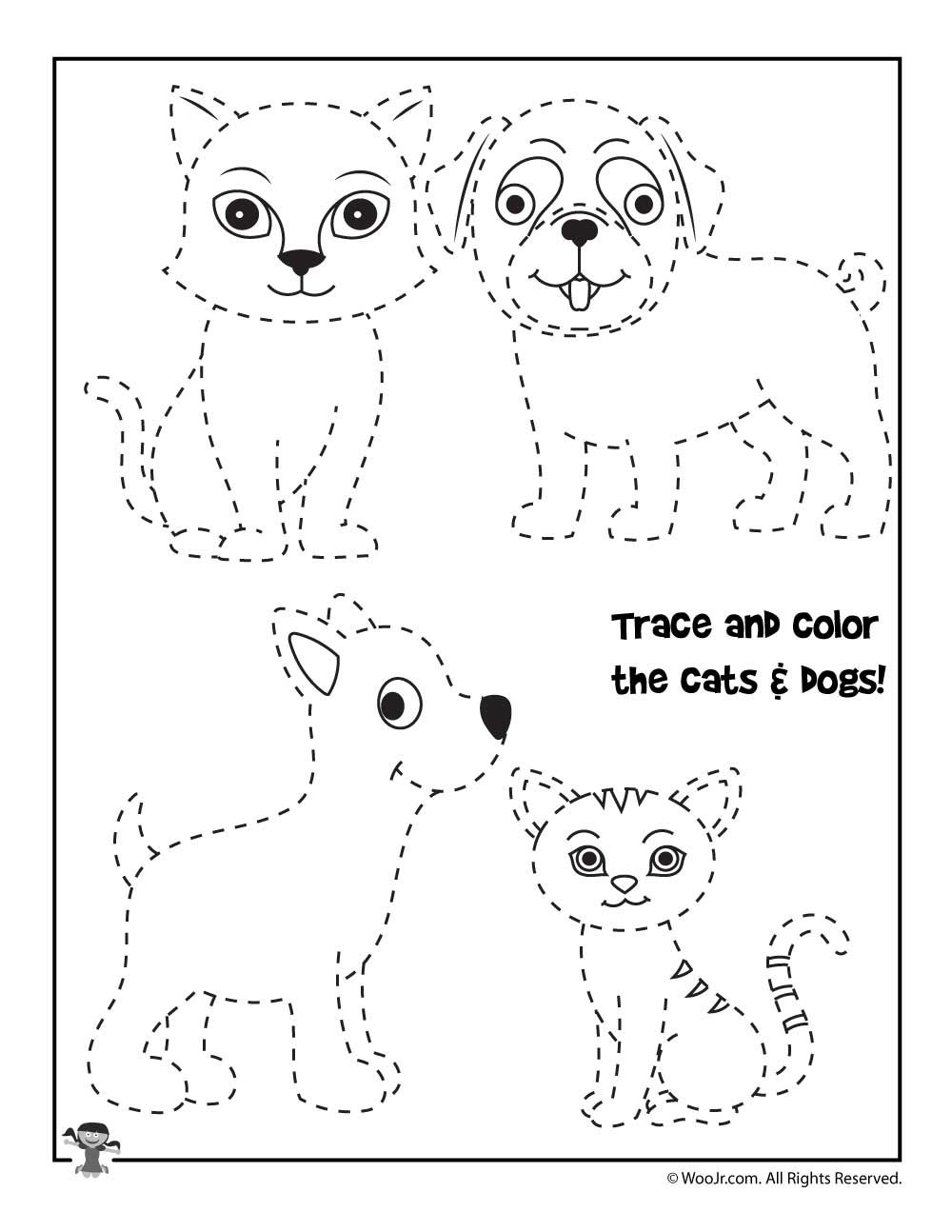 Trace And Color The Animals Worksheet Woo Jr Kids Activities Animal Worksheets Tracing Worksheets Preschool Preschool Activities [ 1294 x 1000 Pixel ]