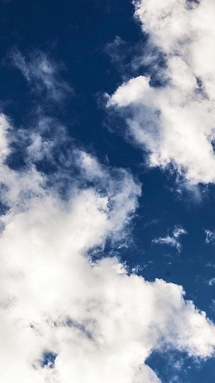 Ng28 Cloud Dark Blue Sky Nature Summer White Blue Aesthetic Dark Blue Wallpaper Iphone Dark Blue Wallpaper