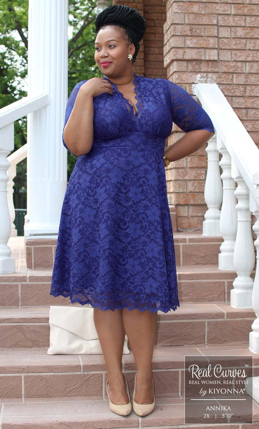 Real Curves for Mademoiselle Lace Dress
