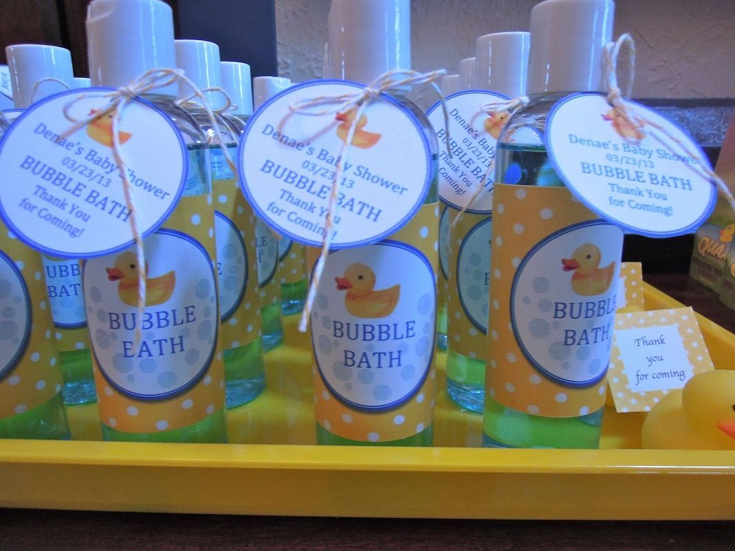 Baby Shower Rubber Duck Theme.