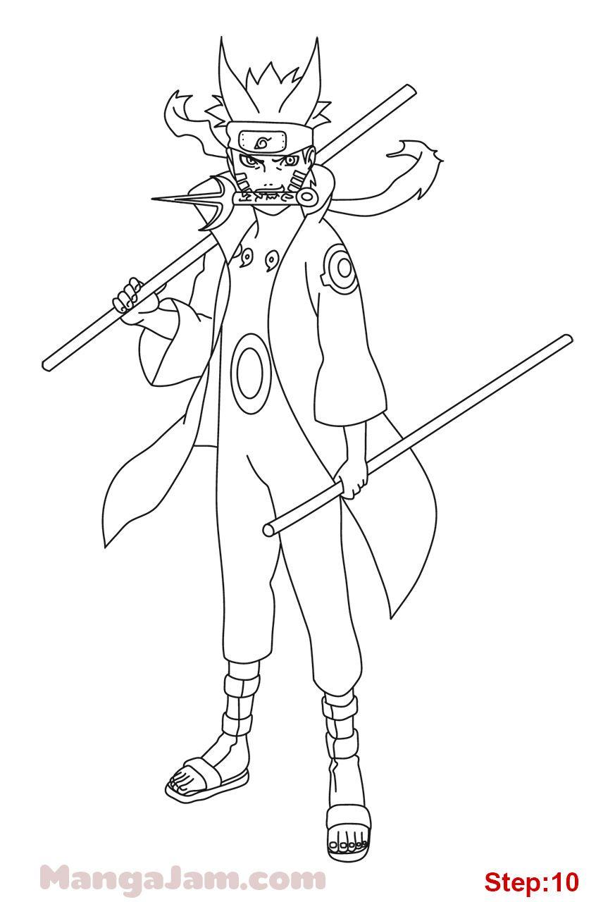 How To Draw Sage Of Six Paths From Naruto Com Imagens Desenhos