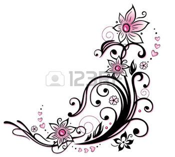tatouage fleur d coration color e de fleur tribal et le. Black Bedroom Furniture Sets. Home Design Ideas