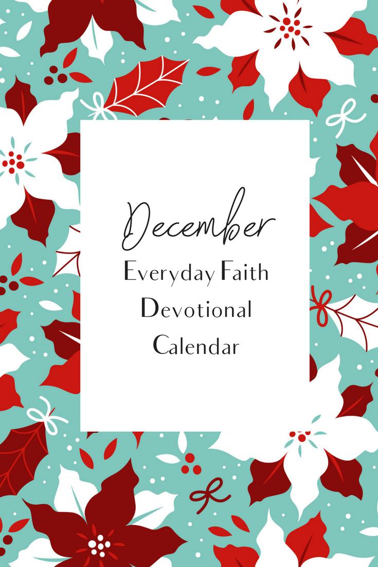 December Everyday Faith Calendar (With images) Faith