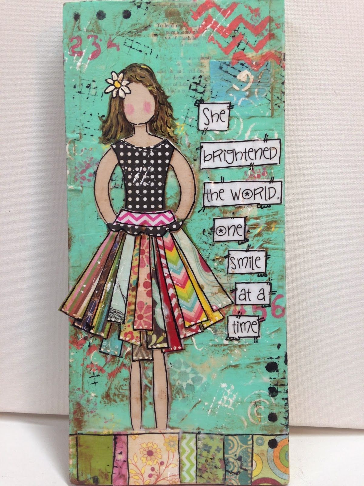 heartfelt: Girls, Girls, GIrls Mixed media wood signs #artjournalmixedmediainspiration