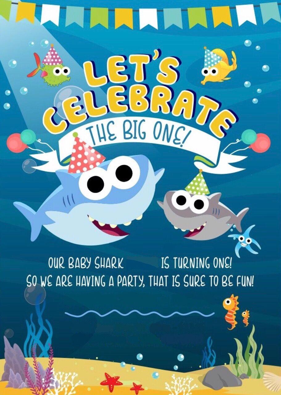 Shark birthday image by mi mi Shark birthday party