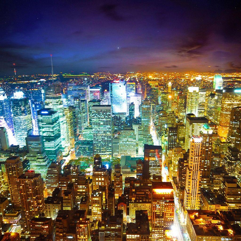 Night City Landscape #iPad #Air #wallpaper