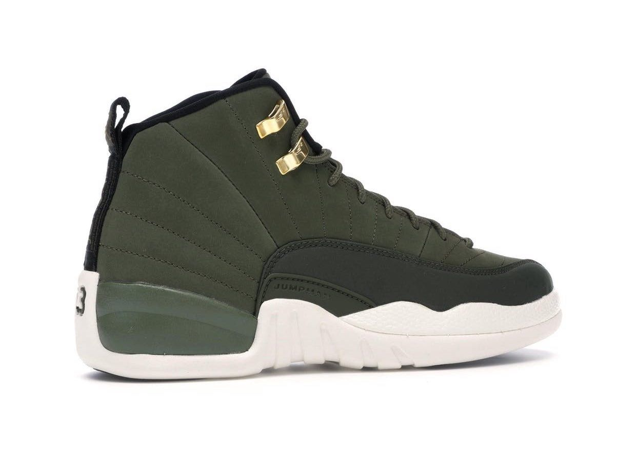 Olive green Jordan retro 12