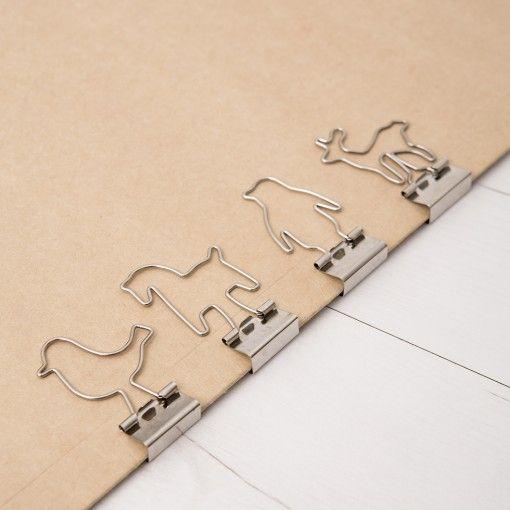 Cute Animal-shaped Binder Clips. Creative Office Supplies