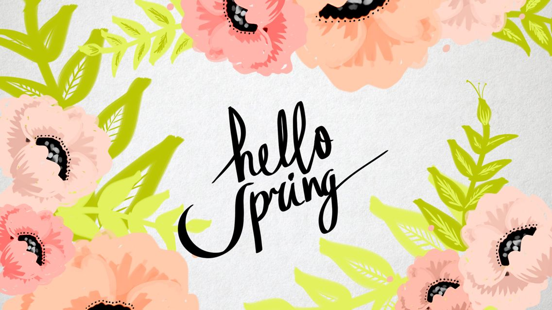 10 Things You Need To Add To Your Spring Checklist Spring Desktop Wallpaper Hello Spring Wallpaper Simple Iphone Wallpaper